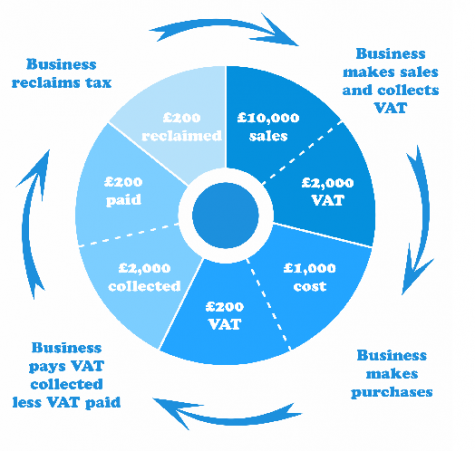 An infographic explaining the VAT cycle